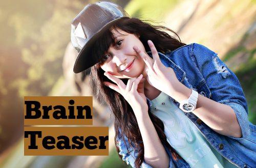 Brain Teaser week3